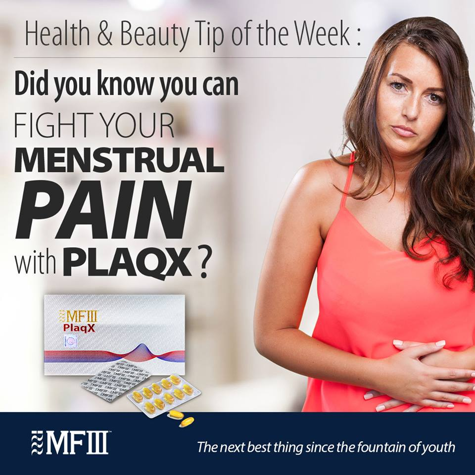 PlaqX help alleviate PMS symptoms